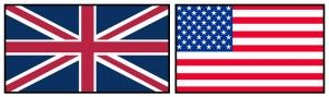 British-and-American-flags